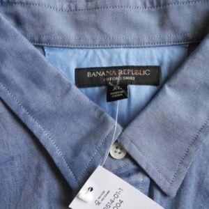 Banana Republic Mens Oxford Popover Shirt sz XL/T